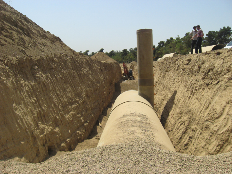 Chitgar Flood Collecting Pipelines and Detention Basin